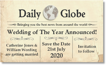order w4 daily globe on parchment