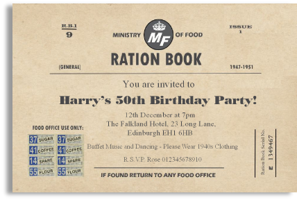 ord 910 ration book